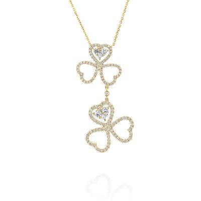 שרשרת יהלומים לבבות יוקרתית ADP-00316-1