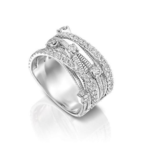 טבעת יהלומים קשתות יוקרתית ADR-00289-2